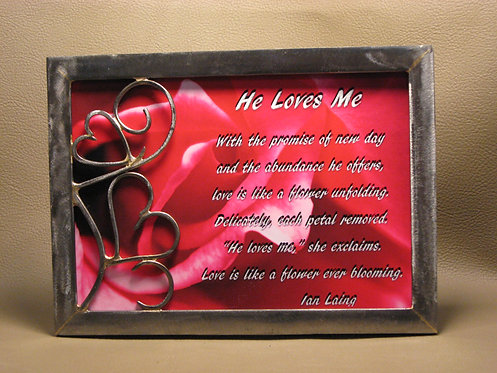 5x7  He Loves Me frame