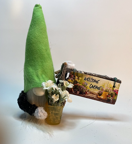 Cheery Gnome - Welcom Gnome sign