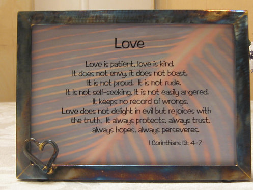 5x7 Love Is Frame with Hope-Heart