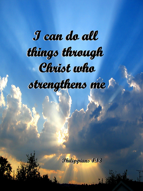 5x7 I can do all things... prints
