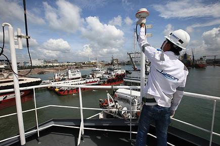 Engineers working on ship