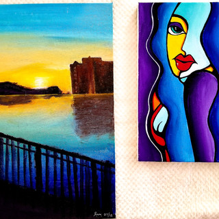 Landscape in RI and Abstract Portrait