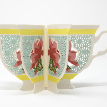 Janice Jakielski: Teacup Book Vase