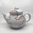 Cloud Teapot (Orange) with built in steeper
