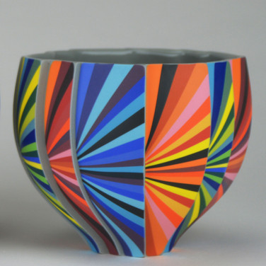 Peter Pincus: Pleated Bowl-A: SOLD
