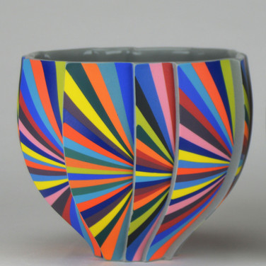 Peter Pincus: Pleated Bowl-B: SOLD