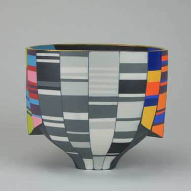 Peter Pincus: Double Walled Skirted Bowl-B