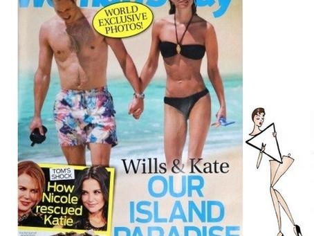 Kate Middleton e seu  triângulo invertido