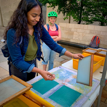 Papermaking in Library Mall