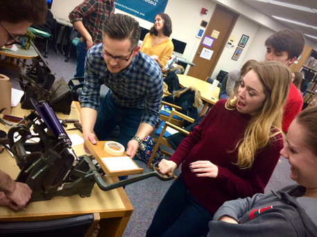 Letterpress Printing in the Text Technologies Lab