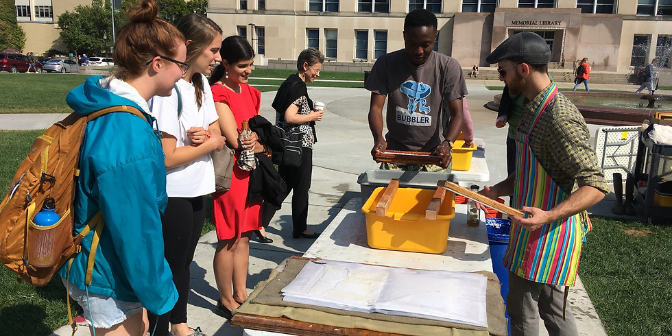 Papermaking on Library Mall