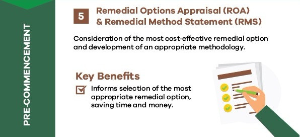Remedial options appraisal and method statement
