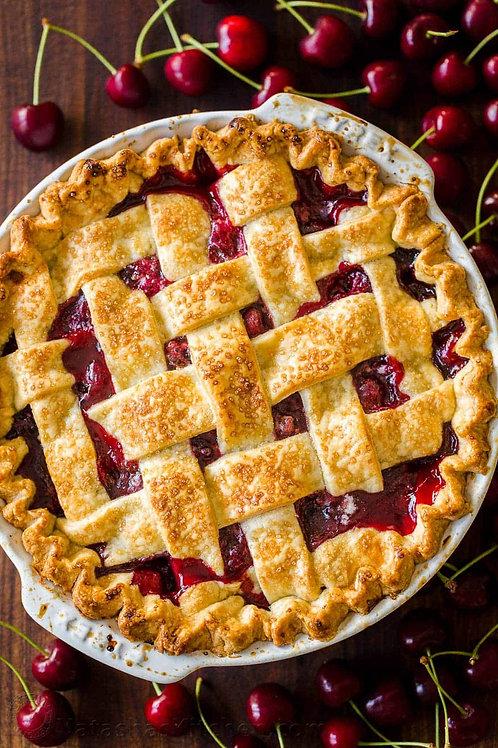 Meringue - Baked cherry pie