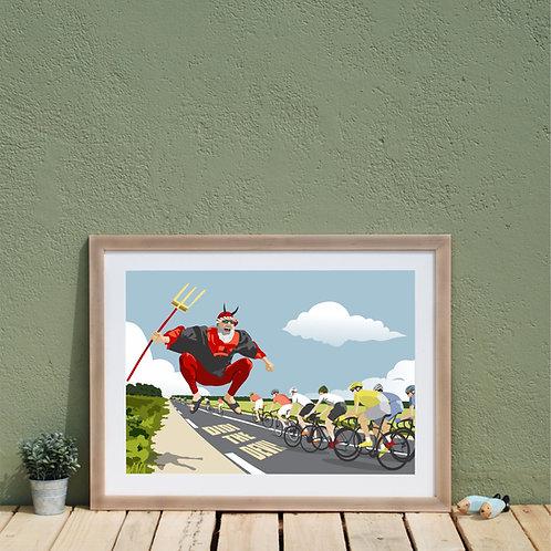 Tour de France Didi the devil Print