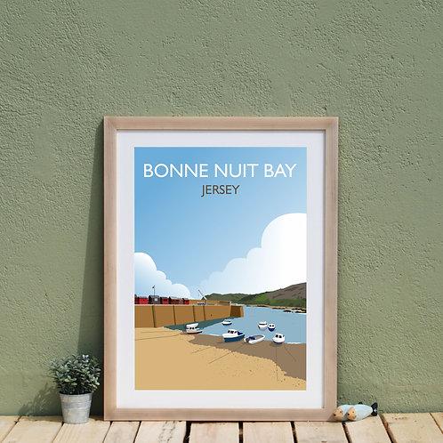 Bonne Nuit Bay, Jersey Channel Islands Print, Poster