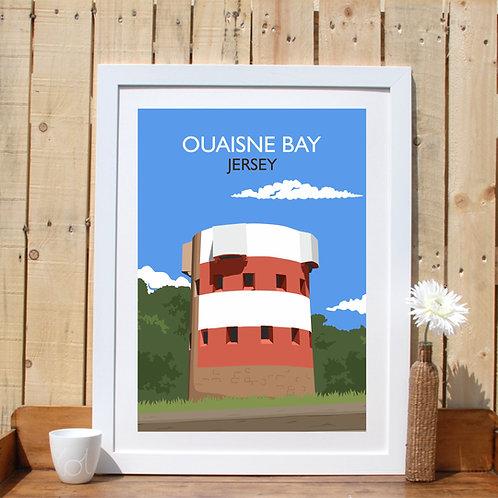 Ouaisne bay Jersey Channel Islands