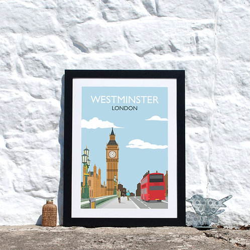 London City Westminster Print