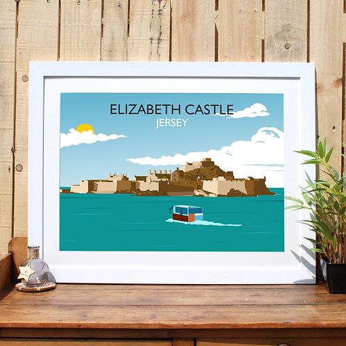 Elizabeth Castle Framed Print Jersey