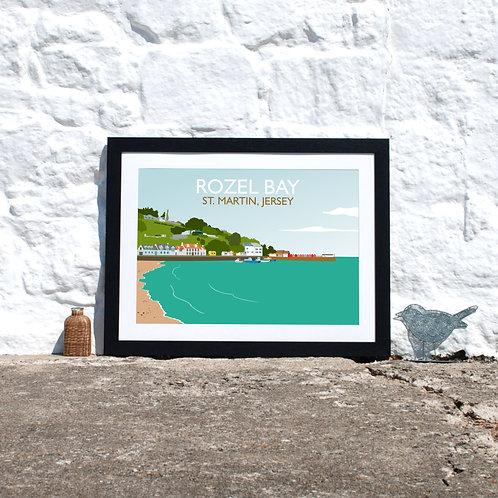 Rozel Bay Framed Print Jersey