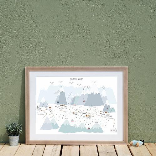 Chamonix ski map print