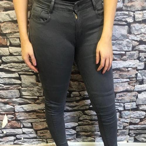 Dark Grey Stretch Skinny Fit Jeans