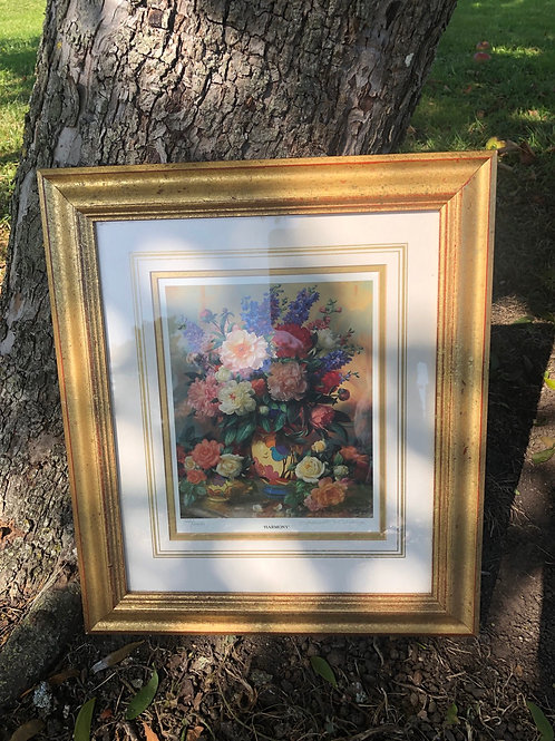 Vintage Floral Print by Albert Williams