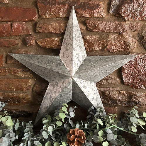 Distressed Metal Hanging Star 52cm