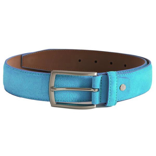 Turquoise Blue Suede Belt