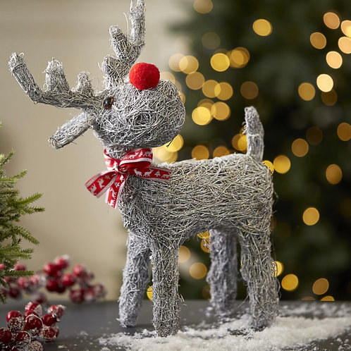 White Washed Rudy Reindeer