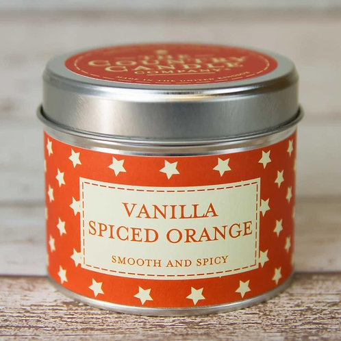 Vanilla Spiced Orange Candle Tin