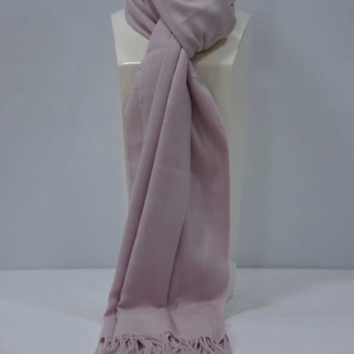 Cashmere Blend Scarf / Pashmina with Fringes