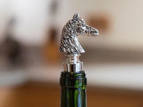 Pewter Horse Head Bottle Stopper