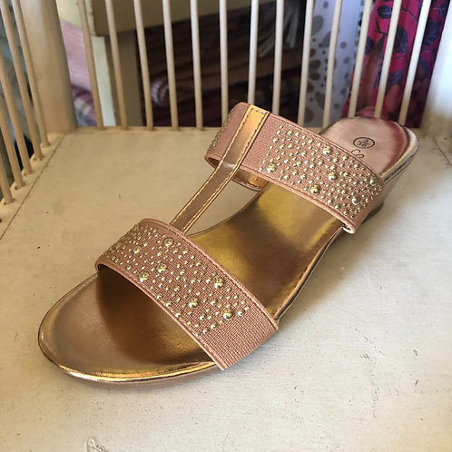 Rose Gold Embellished Mule
