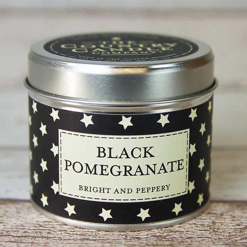 Black Pomegranate Candle Tin