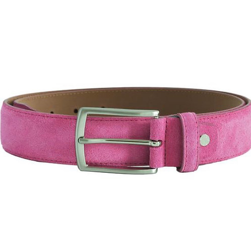 Raspberry Pink Suede Belt