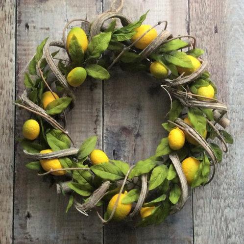 Faux Lemon & Twig Wreath