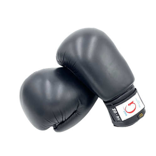 Boxing Gloves 14oz - Black Leather