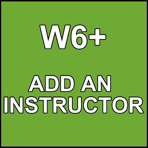 W6+ Add an Instructor
