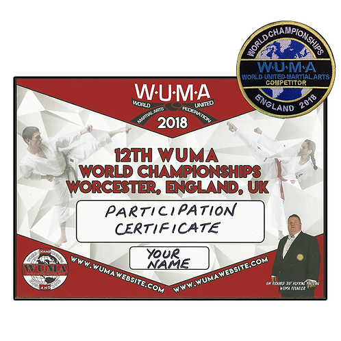 World Championships Certification Package