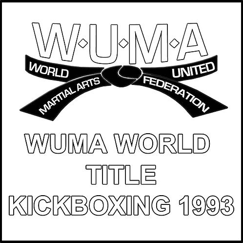 WUMA World Title Kickboxing 1993