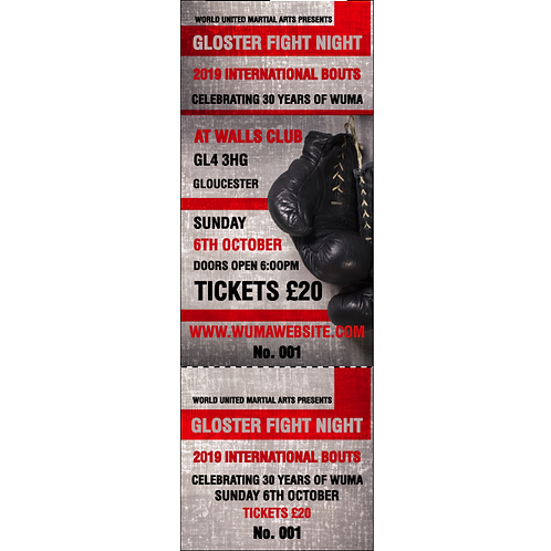 Gloster Fight Night Tickets
