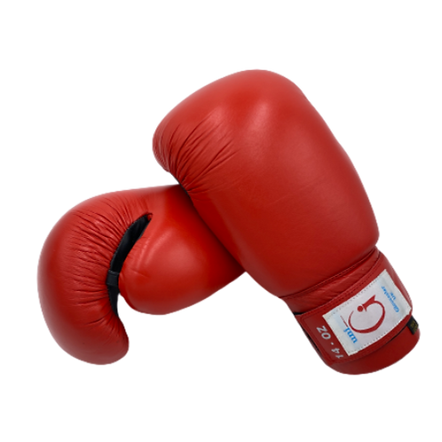 Boxing Gloves 14oz - Red Leather