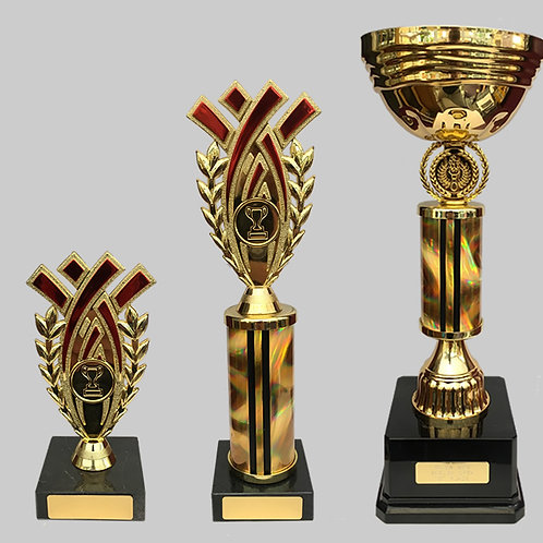 "Gold Cup 120mm, 10"", 6"" Trophy Set"
