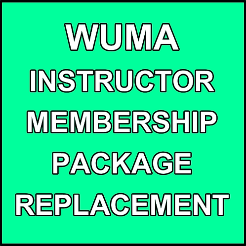 Instructor Certificate Replacement