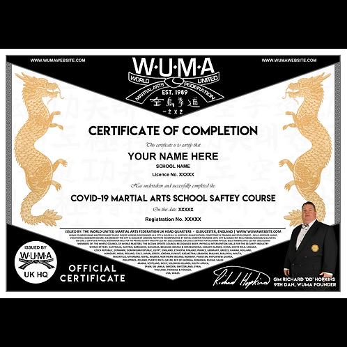 COVID-19 Course Certificate