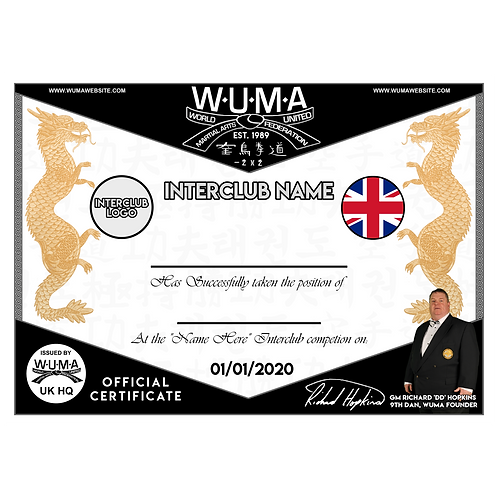 WUMA Interclub Certificates