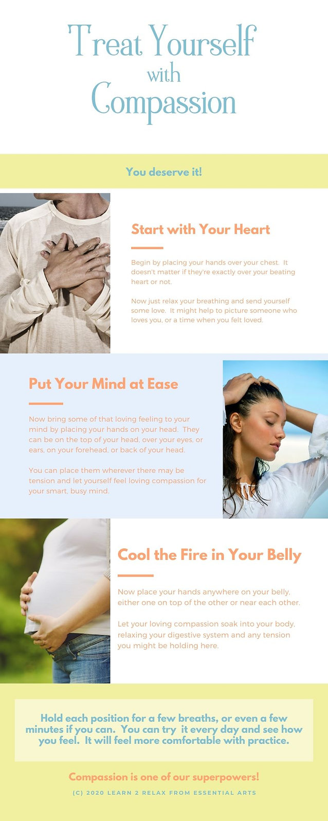 Treat Yourself with Compassion Infograph