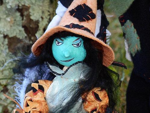 Ghostly Trio, Mixed Media Art, Halloween Art, Original Story
