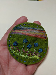 Flower Embroidery Magnet