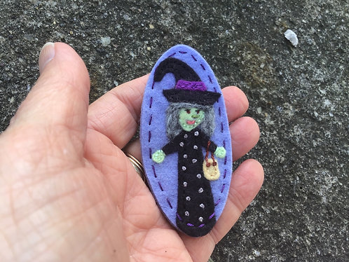 Witch magnet, Halloween magnet